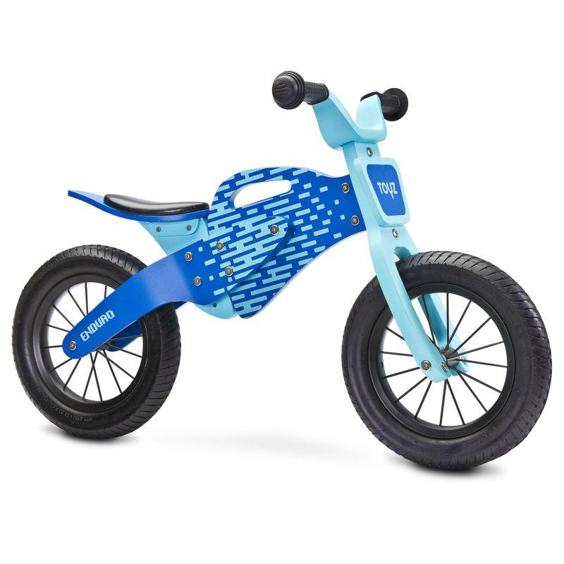 Bicicleta de lemn fara pedale ENDURO Toyz by Caretero Blue