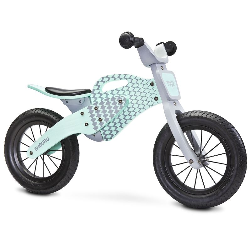 Bicicleta de lemn fara pedale ENDURO Toyz by Caretero Mint