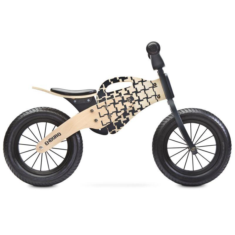 bicicleta de lemn fara pedale toyz enduro 2018 natur 1