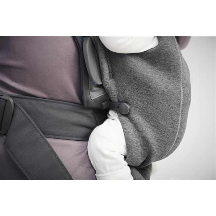 BabyBjorn Marsupiu anatomic Mini Dark Grey 3D Jersey 13