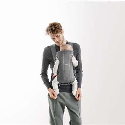 BabyBjorn Marsupiu anatomic Mini Dark Grey 3D Jersey 7