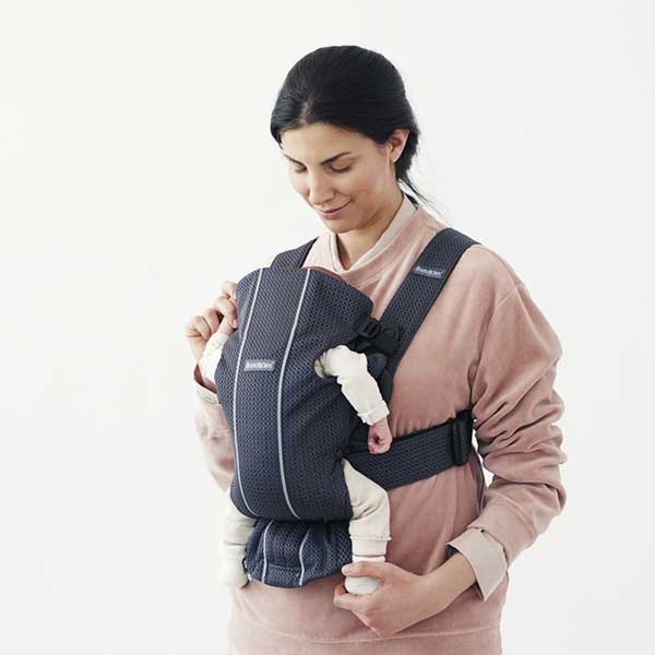 Marsupiu anatomic BabyBjorn Mini cu pozitii multiple de purtare anthracite 3d mesh 8