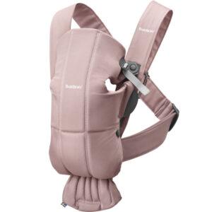 Marsupiu anatomic BabyBjorn Mini cu pozitii multiple de purtare - Dusty Pink Bumbac