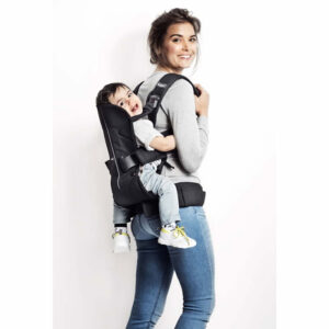 babybjorn marsupiu one denim grey bumbac 1