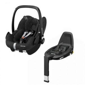 Pachet cos auto Maxi-Cosi Pebble Pro I-Size si baza FamilyFix3 Essential Black