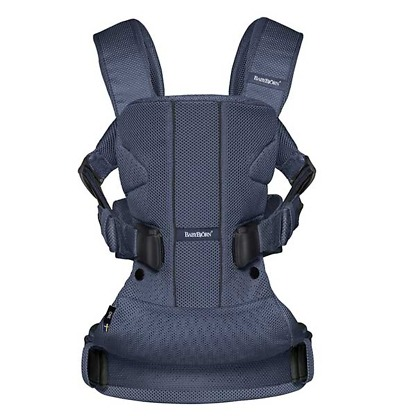 marsupiu anatomic babybjorn one air navy blue 3d mesh 2