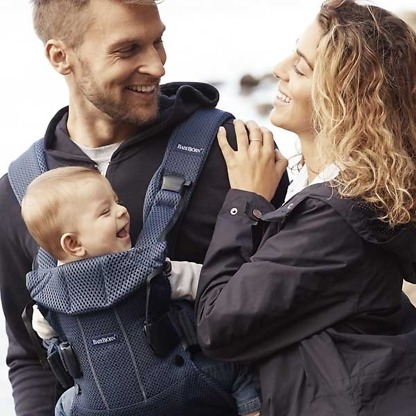 marsupiu anatomic babybjorn one air navy blue 3d mesh 5