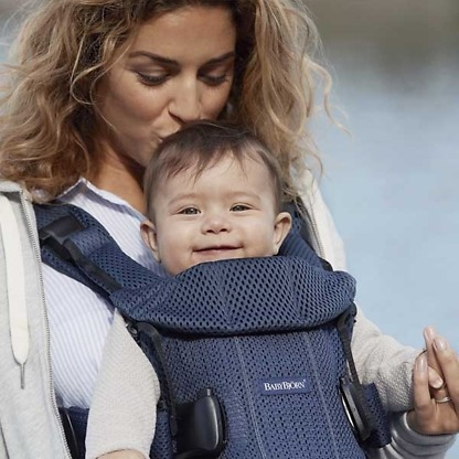 marsupiu anatomic babybjorn one air navy blue 3d mesh 6
