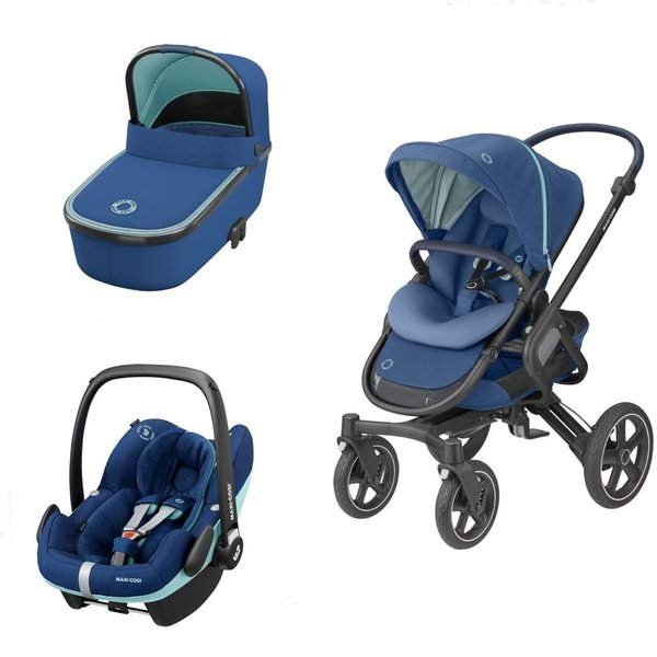 Pachet carucior Nova 4 Maxi-Cosi 3 in 1 Essential Blue