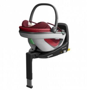 Pachet Cos auto Maxi-Cosi Coral i-Size Essential Red si baza FamilyFix3