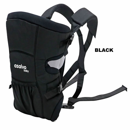 marsupiu bidirectional asalvo baby carrier black