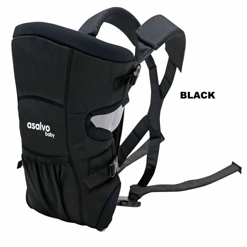 marsupiu bidirectional asalvo baby carrier black