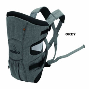 marsupiu bidirectional asalvo baby carrier grey
