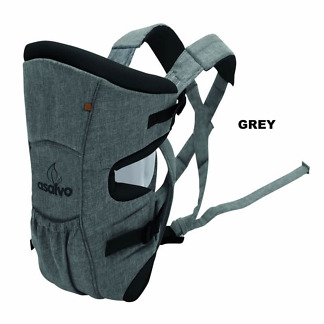 marsupiu bidirectional asalvo baby carrier grey