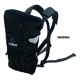 marsupiu bidirectional asalvo baby carrier negru