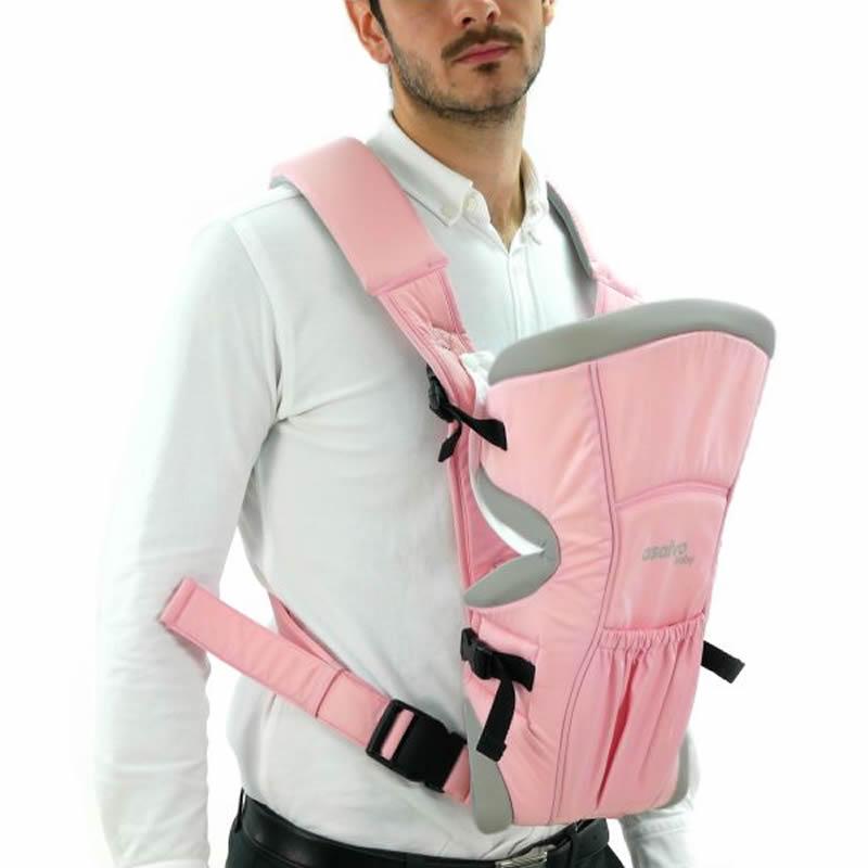marsupiu bidirectional asalvo baby carrier pink 1