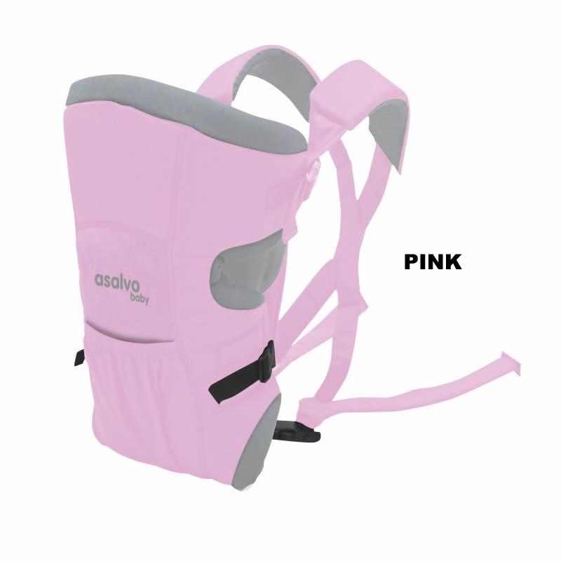 marsupiu bidirectional asalvo baby carrier pink