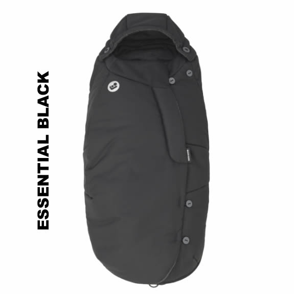 Salopeta de iarna General Footmuff Maxi Cosi Essential Black