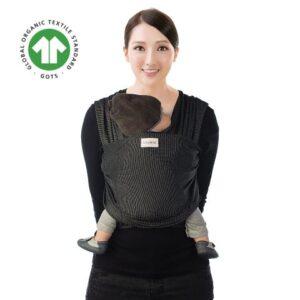 Sistem de purtare wrap elastic Babylonia Tricot-Slen Design Black Stipple