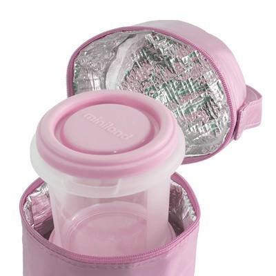 set 2 recipiente plastic 250 ml cu gentuta izoterma miniland rose 2