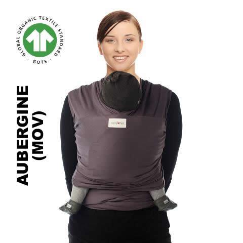 Sistem de purtare wrap elastic Babylonia Tricot Slen Organic Aubergine