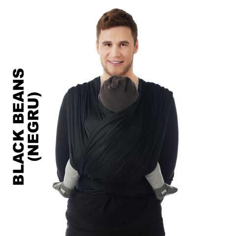 Sistem de purtare wrap tesut Babylonia Trend BB-Slen 490 cm Black Beans