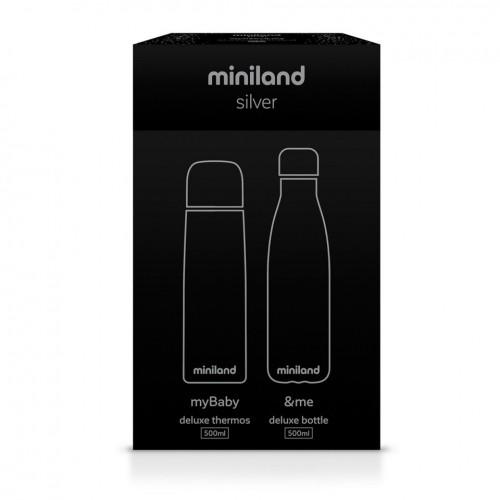 termos lichide mybaby me 500 ml set de 2 termosuri miniland silver 2