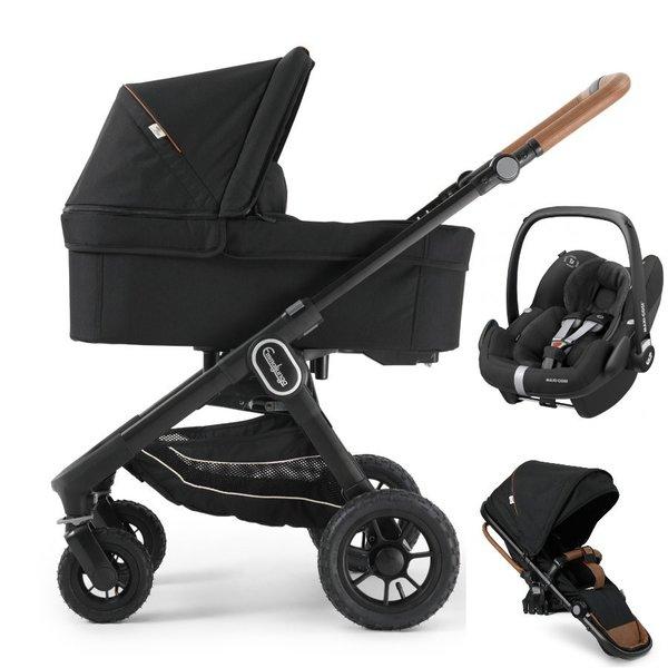 pachet carucior 3 in 1 emmaljunga nxt60 Ergo Outdoor Eco Black