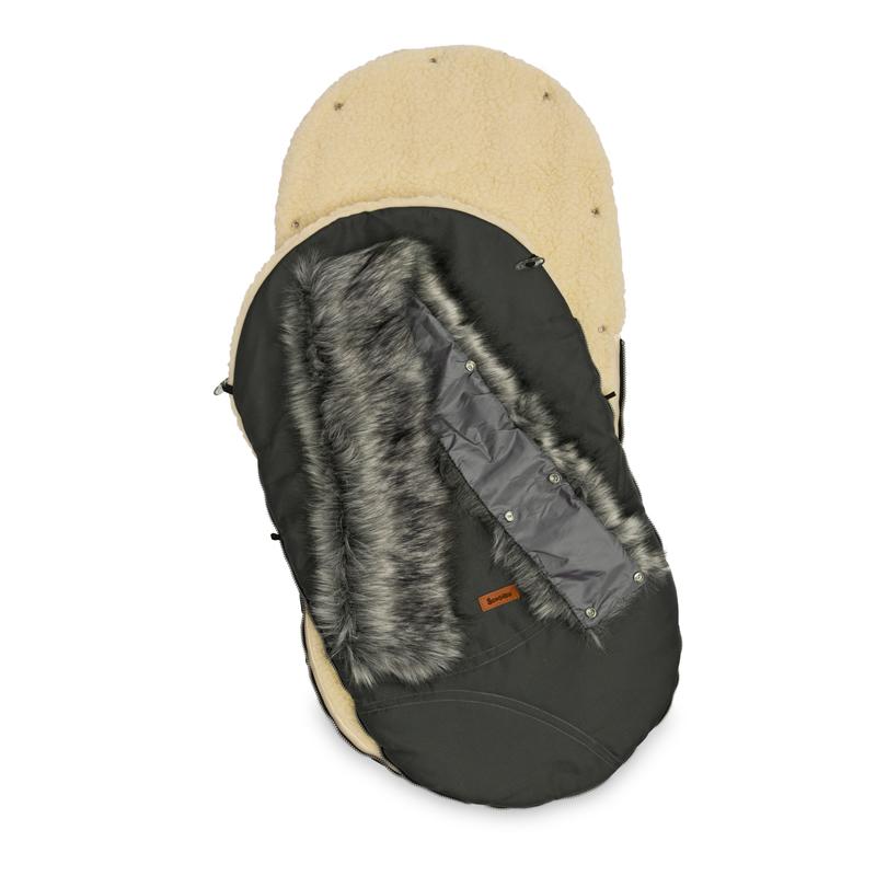 sac de iarna sensillo eskimo lana 100x46 cm graphite 1