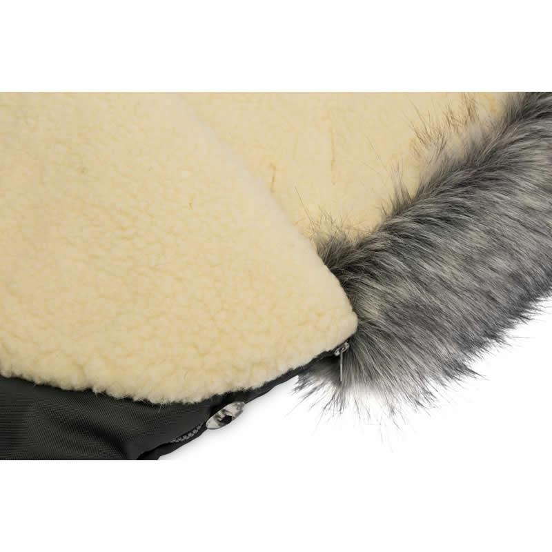 sac de iarna sensillo eskimo lana 100x46 cm graphite 3