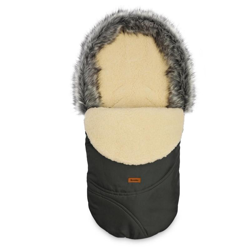 sac de iarna sensillo eskimo lana 100x46 cm graphite