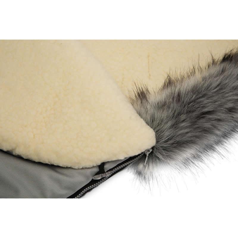 sac de iarna sensillo eskimo lana 100x46 cm gri 3