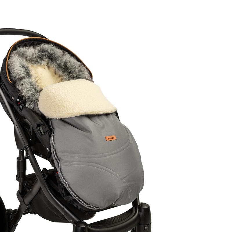 sac de iarna sensillo eskimo lana 100x46 cm gri 4