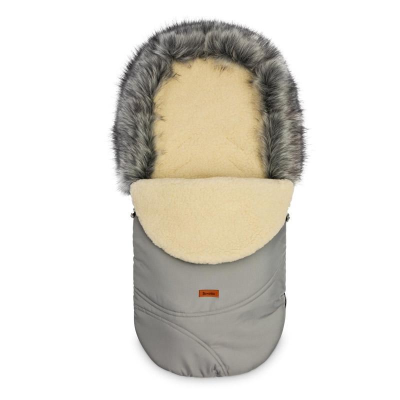 sac de iarna sensillo eskimo lana 100x46 cm gri
