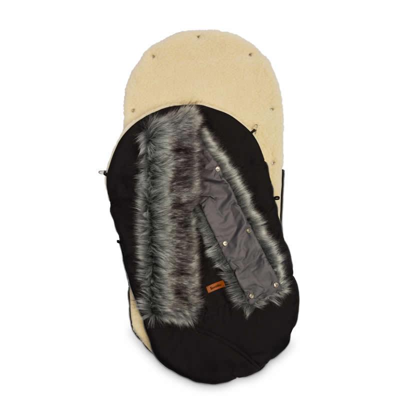 sac de iarna sensillo eskimo lana 100x46 cm negru 1