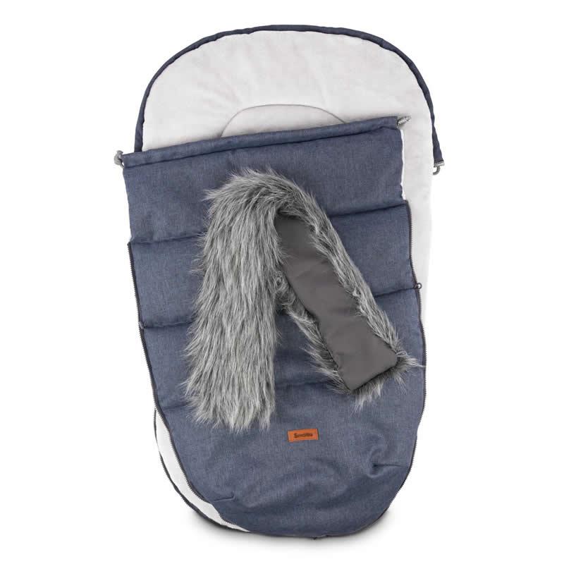 sac de iarna sensillo indiana fleece 100x50 cm navy 1