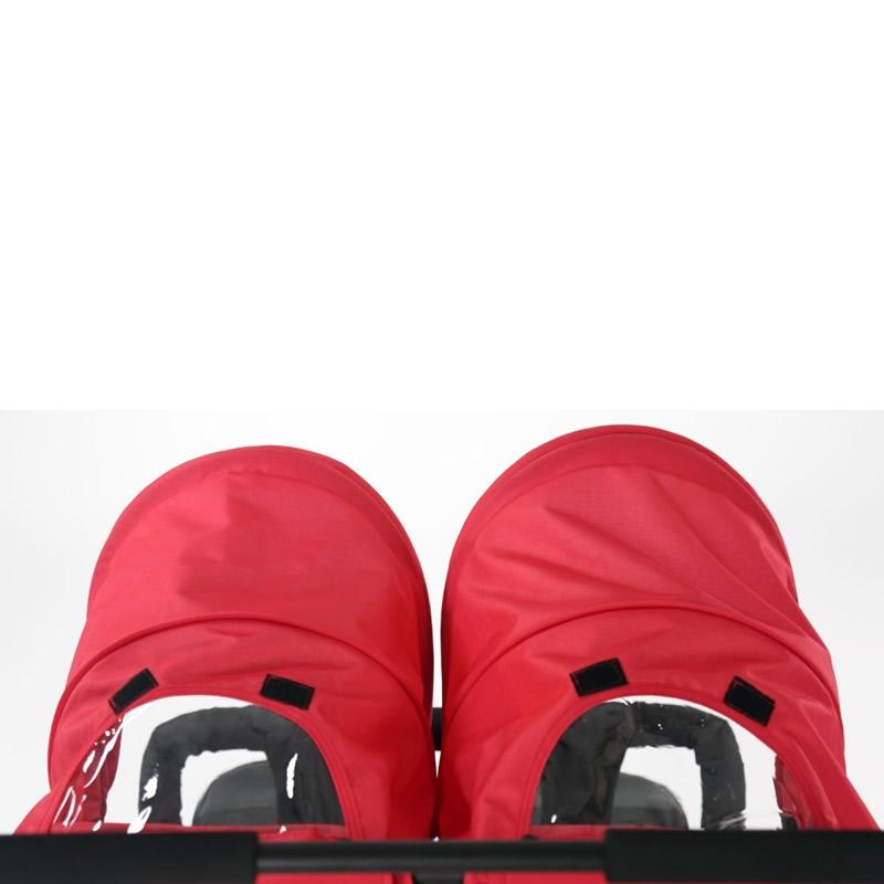 1 Carucior sport pentru gemeni Asalvo DOUBLE DINAMIC red 4
