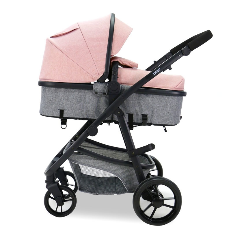 Carucior 3 in 1 Asalvo CONVERTIBLE TWO pink 1