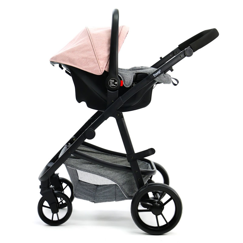 Carucior 3 in 1 Asalvo CONVERTIBLE TWO pink 10