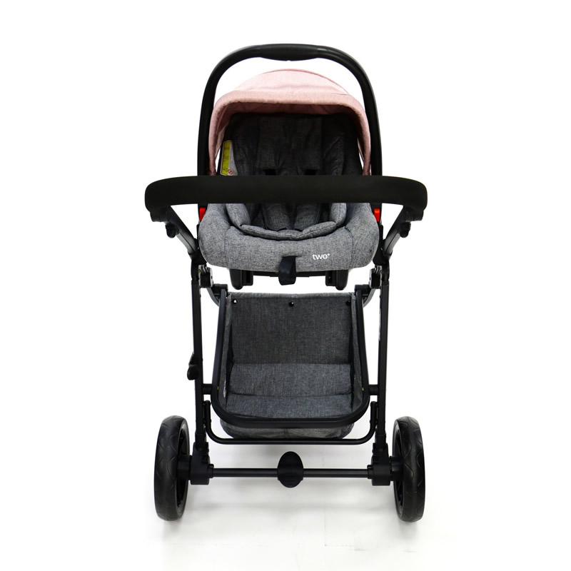 Carucior 3 in 1 Asalvo CONVERTIBLE TWO pink 13