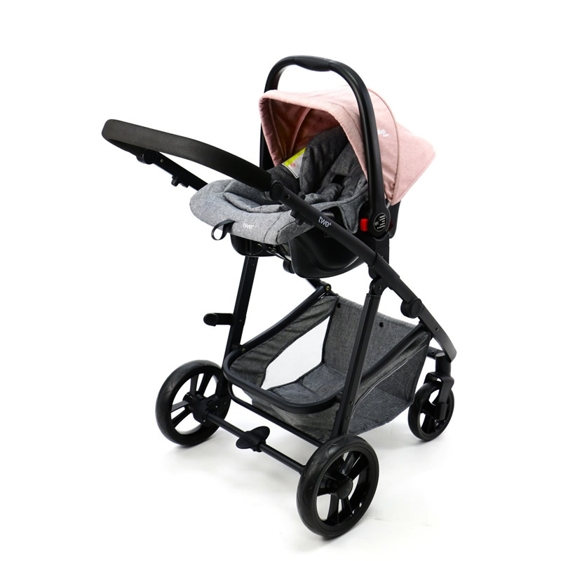 Carucior 3 in 1 Asalvo CONVERTIBLE TWO pink 14
