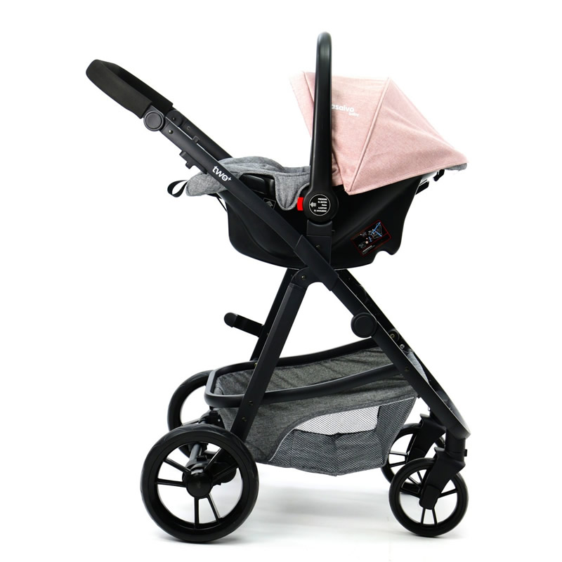 Carucior 3 in 1 Asalvo CONVERTIBLE TWO pink 15