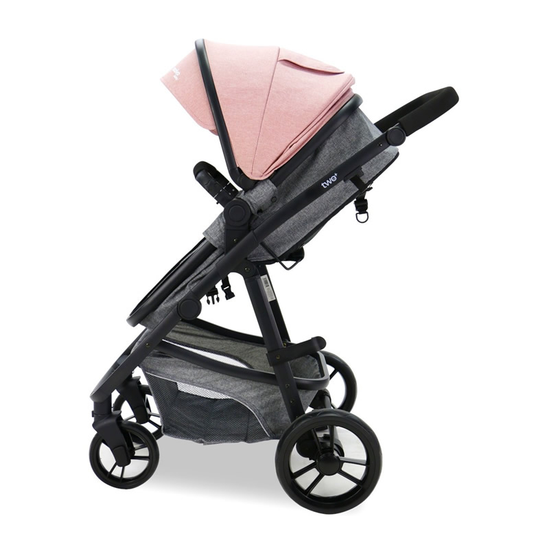 Carucior 3 in 1 Asalvo CONVERTIBLE TWO pink 3