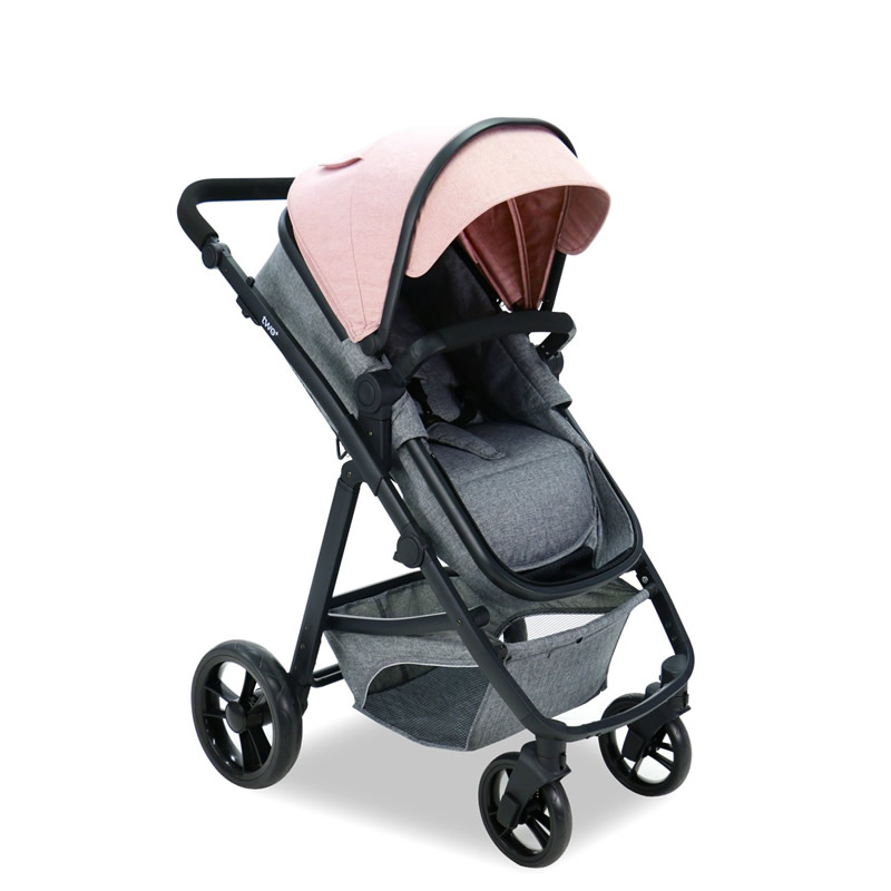 Carucior 3 in 1 Asalvo CONVERTIBLE TWO pink 6