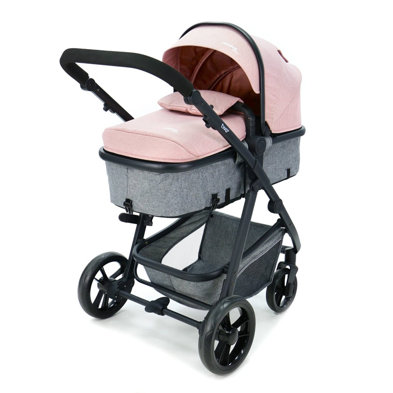 Carucior 3 in 1 Asalvo CONVERTIBLE TWO pink 9