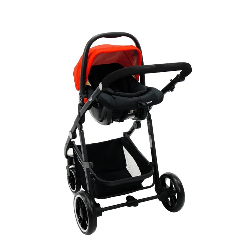 Carucior 3 in 1 Asalvo CONVERTIBLE TWO red 12