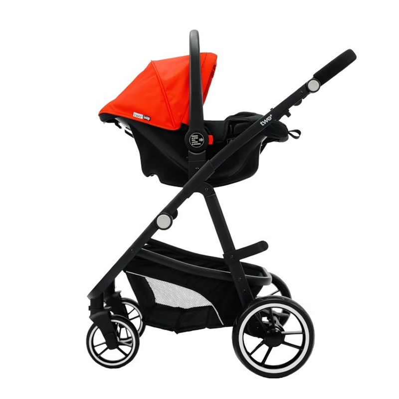 Carucior 3 in 1 Asalvo CONVERTIBLE TWO red 13