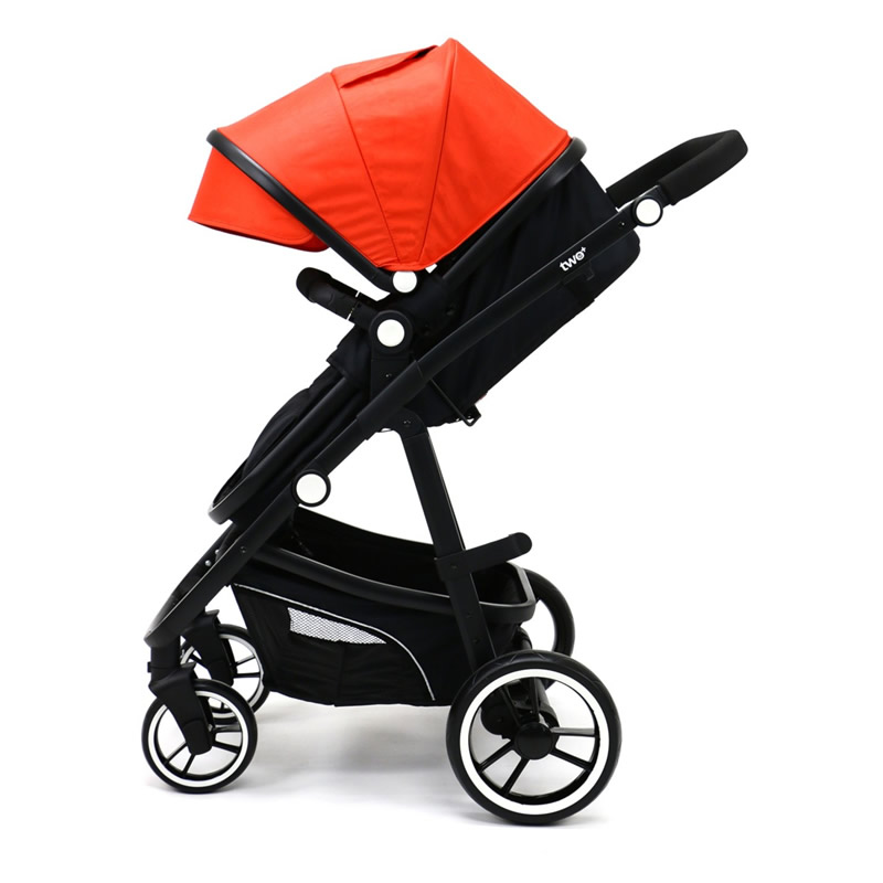 Carucior 3 in 1 Asalvo CONVERTIBLE TWO red 2