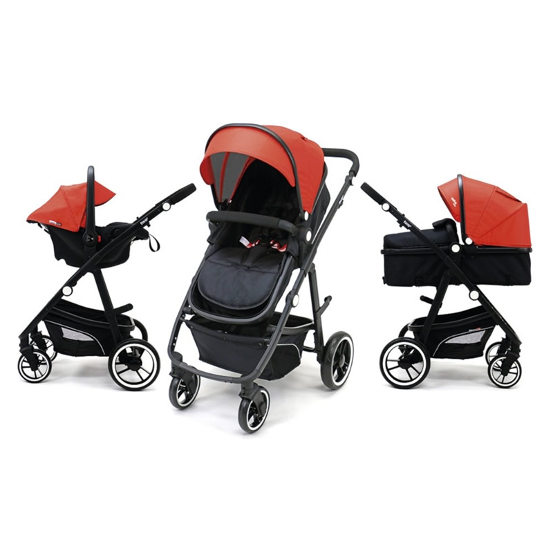 Carucior 3 in 1 Asalvo CONVERTIBLE TWO red