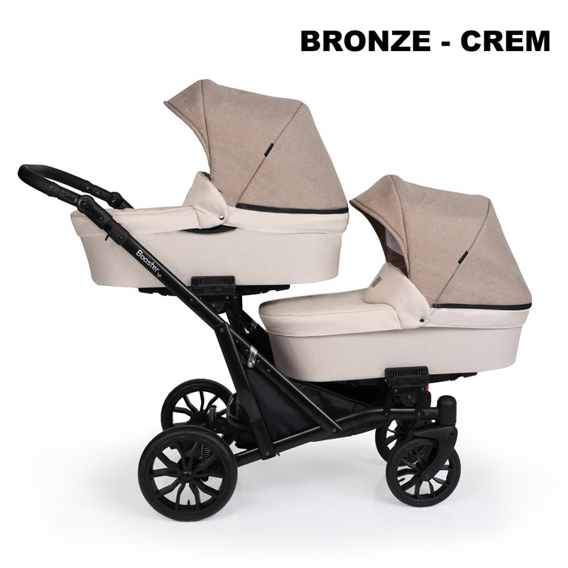 Carucior gemeni Kunert BOOSTER LIGHT 2 in 1 bronze crem